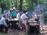 栃木県 那須高原 別荘村 繭の里のバーベキュー場